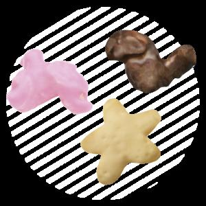 Snacks con cobertura de cacao