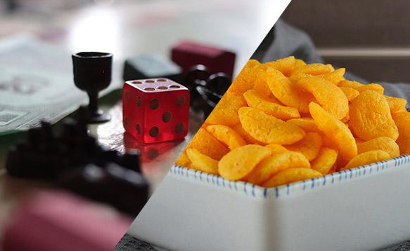5 juegos de mesa 7 snacks